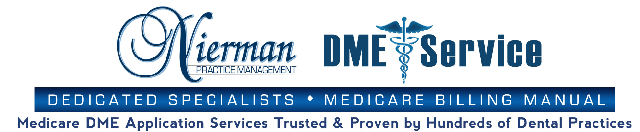 Medicare Dme Supplier Service For Oral Appliance Therapy